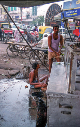 Delhi market vendors
