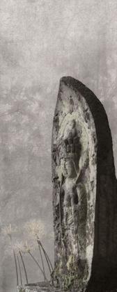 A stone Buddhist image