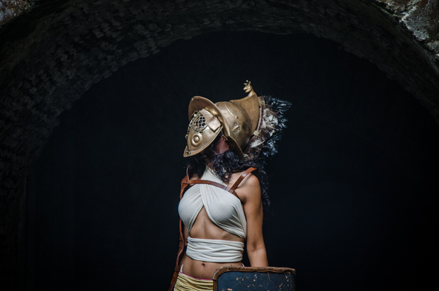 Gladiator fight reenactment