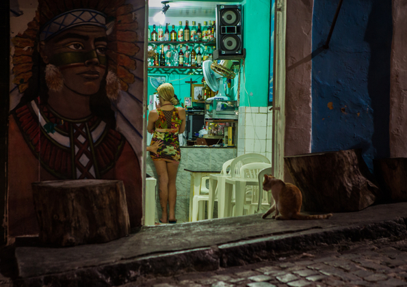 Bahia Daily Extreme. In the streets of the city of Salvador Bahia, Brazil, in the middle of the night. © Antonello Veneri. Chosen for the LensCulture Street Photography Awards Top 100.