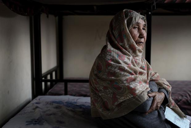An elderly Afghan woman