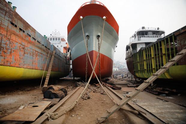 Shipyard at Dhaka Bangladesh