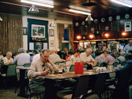 Playing Bingo, Boothys Working Men's Club, Mansfield, Nottinghamshire.