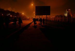 Calais Camp Eviction Sunrise