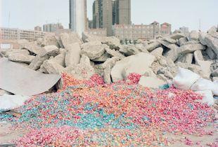 A graveyard of candy. Korla, Xinjiang. August, 2017.