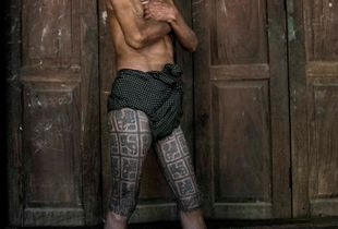 Ancient marks of manhood , Myanmar