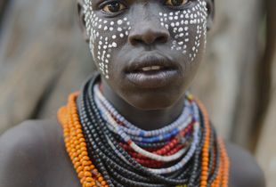 Portrait of a Karo Girl