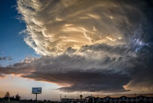 Supercell Over Downtown Roswell. Finalist, LensCulture Earth Awards 2015.