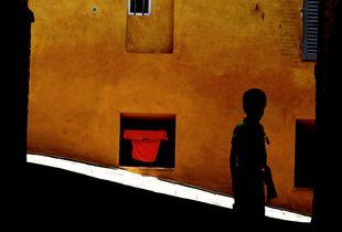 Photo de ruelle à Sienne.