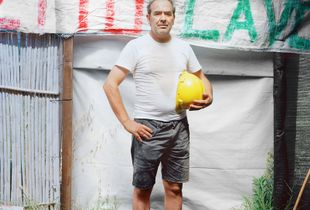An ex-Alcoa worker continues to occupy the Portovesme S.R.L. factory in protest at redundancies which occurred in 2012.