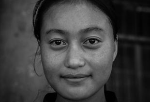 Orphan student at Reden School in Pelyul, Kham, Eastern Tibet.