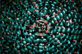 "The sky of Human Towers (""Castellers de Vilafranca"")"
