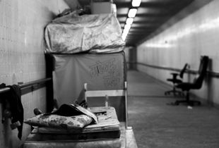 Hut Inside the Pedestrian Tunnel, Jordan, Hong Kong