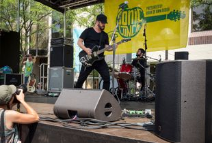 The Record Company Rocks Out At The Sonic Lunch in Ann Arbor Michigan USA