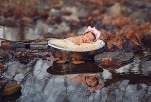 Newborn baby girl.