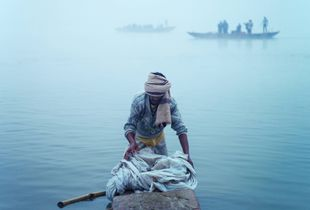 Laundry on the Ganges.