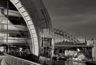 Two Arcs on the Tyne,  New and Old