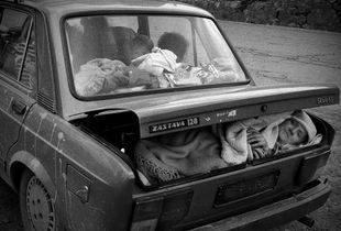 Refugees from the Kosovo War 1999
