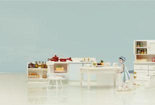 """@Aixia Li-""""Kitchen"""", 200 x 50cm, digital print with dibond, 2010"""