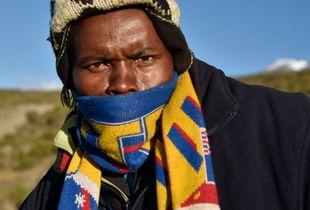 Porter in Kilimanjaro