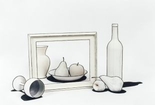 Nature Morte no. 4 (Still Life Inside Out), 2009, chromogenic print, 40 x 50 inches and 26 x 32 in.  Edition of 7 © Cynthia Greig