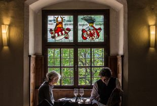The pleasure of reading in a medieval castle