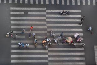 Pedestrian crossing  Beijing/China