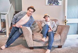Harry & Thomas Posing.