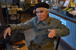 Nick Ut shares coffee and conversation in Venice, CA.