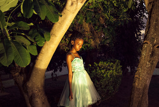 "The first picture I took of Maysa.I met Maysa during the final contest for ""Young Miss Brazil"" in Palacio do Cedro (The Cedar Palace) in July 2014. I was there working on an assignment, so it was really just good fortune that brought us together. © Luisa Dorr. Finalist, LensCulture Portrait Awards 2016"