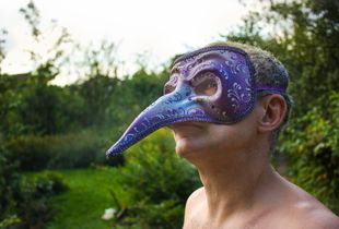 Father in Venetian mask