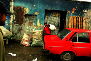Bogota,Colombia marginal neighborhood where people use recycling as livelihood.