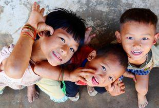 Karen children. KNDO territory, Myanmar