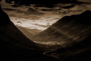 Glencoe from the haunted valley, Highlands Scotland