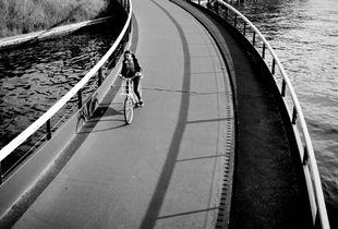Riding on the bridge