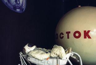 Vostok spacecraft, cosmonaut dummy, installation, Museum of the House of Cosmonauts, Star City.           © Maria Gruzdeva