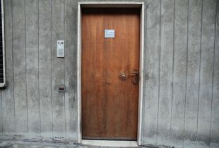 Door to workshop