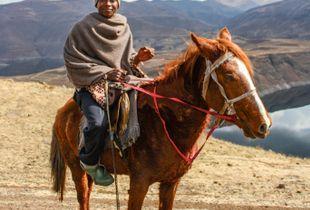 Man on horseback, Lesotho 1