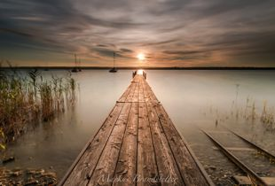 Jetty into a sunset