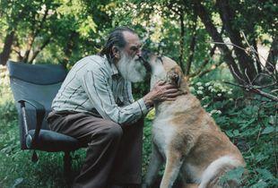 Vladimir with a dog