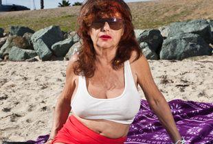 Anne, at her favorite beach, San Diego, 2015