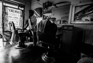The Barber - Moments where Sanjay is alone in the shop are rare during the day.