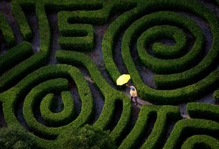Man with Two Spirals