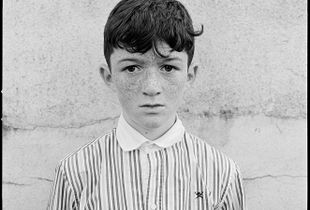 Boy with Striped Shirt, Galway, Ireland, 2017