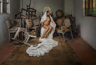 "Leyla, from the series Virgenes de la Puerta, 52""x42"", 2014"