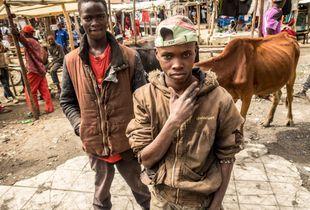 Street boys, Kenya, love to pose.
