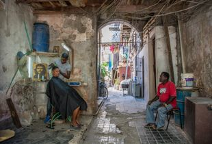 Barber's Shop in Old Havana