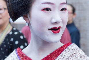 "Tomitae as a ""Maiko."""