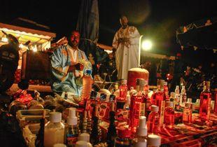 The Magic Potion Seller. Jma El Fna , Marrakech