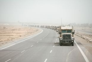Fuel Convoy on Route Tampa, Central Iraq, 2011.